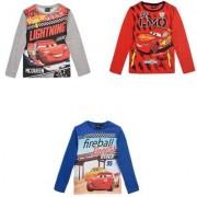 Disney Cars Bilar Långärmad T-shirt (3 ÅR - 98 cm, RÖD)