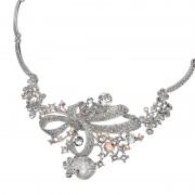 JN クリスタルガラス エレガントリボン ネックレス【QVC】40代・50代レディースファッション