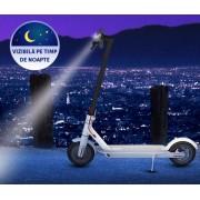 Trotineta electrica pliabila Xiaomi Mi M365 Electric Scooter FBC4003GL, Autonomie 30 Km, Viteza 25 Km/h, versiunea europeana (+ 2 anvelope + 2 camere) (Alb) + Vesta reflectorizanta evoMAG si Comunitatea WeAreElectric
