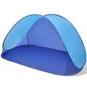 vidaXL Plážový stan skládací, voděodolný, světle modrý