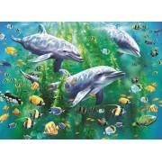 Пазл - «Три дельфина» XXL 100 шт