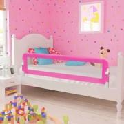 vidaXL Barra de segurança para cama de criança 2 pcs 150x42 cm rosa