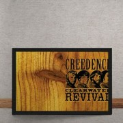 Quadro Decorativo Creedence Clearwater Revival Madeira 25x35