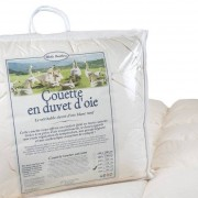 Mille Oreillers Couette en duvet d'oie 240x260 cm - Toutes saisons