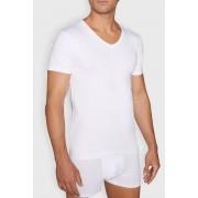 Cotton Nature fehér póló, V-alakú nyakkivágással fehér