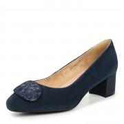 233-415B-20603 Туфли женские велюр-кожа/текстиль синий, Thomas Munz - 35