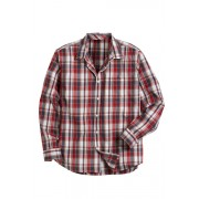 Mens Southcape Casual Shirt - Red Check