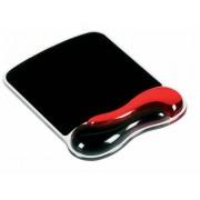 Egéralátét csuklótámasszal, géltöltésű, KENSINGTON DuoGel, fekete-piros (BME62402)