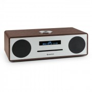 Auna Standford DAB-CD-rádio DAB+ bluetooth USB MP3 AUX FM, цвят орех (VB5-Stanford WN)
