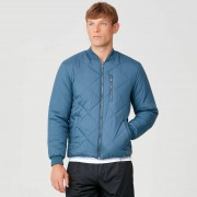 Myprotein Pro-Tech Quilted Bomber Jacket - Petrol Blue - XL