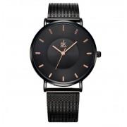 Shengke Czarny zegarek damski SK na bransolecie