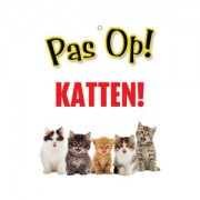 Plenty Gifts Waakbord Kat - Pas op! Katten!