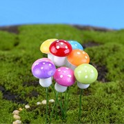 MagiDeal 100pcs Miniature Dollhouse Fairy Garden Landscape Foam Mushroom - Multicolor - red