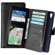 Sony Xperia Z5, Xperia Z5 Dual Multifunctional Wallet Case - Black