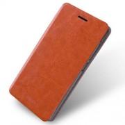 MOFI notesz / flip tok - BARNA - oldalra nyíló flip cover, asztali tartó funkció, szilikon belső - XIAOMI Redmi 3 - GYÁRI
