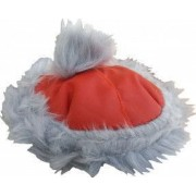 Caciulita de iarna cu blana NOEL Euroanimode Marimea 3 L 37-40 cm rosu/alb