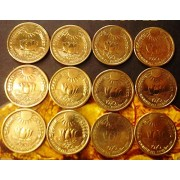 2 Mints Combo - Sun & Lotus Coin - Commemorative Coin - UNC - Very Rare - Mumbai Mint & Calcutta Minti - 20 Paise - Food for All - Pmw