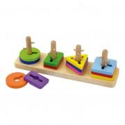 New Classic Toys Viga Toys - Compétences motrices Trier et empiler les formes