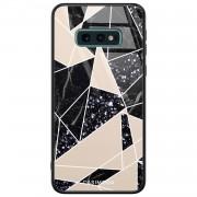 Casimoda Samsung Galaxy S10e glazen hardcase - Abstract painted