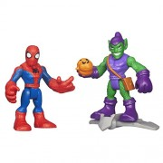 Playskool Heroes Marvel Super Hero Adventures Spider-Man and Green Goblin Figures