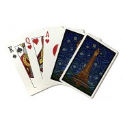 Paris, France Eiffel Tower Mosaic (Playing Card Deck 52 Card Poker Size With Jokers)