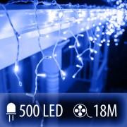 LED SVETELNÁ ZÁCLONA 500LED 18M MODRÁ