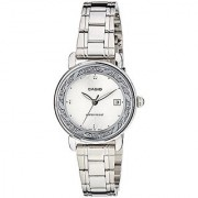 Casio Enticer Analog White Dial Womens Watch - Ltp-E120D-7Adf (A1041)