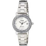 Casio Enticer Analog White Dial Womens Watch - Ltp-E120D-7Adf (A1041)