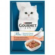 Gourmet Purina Perle Delicias en Salsa 48 x 85 g - Pack Ahorro - Pack mixto I: pollo y buey