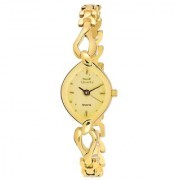 Mark Regal Oval dial Gold Metal Strap Analog Watch For Women