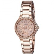 Casio Sheen Analog Rose Gold Dial Womens Watch-SHE-3052PG-9AUDR (SX187)
