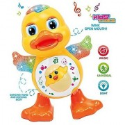 Dancing Duck Toy with Real Dancing Action amp Music Flashing Lights Multi Color