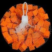 Houten blokjes oranje 15 cm
