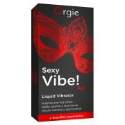 Orgie Sexy Vibe HOT - Strawberry Liquid Vibrator for Women and Men (15ml)