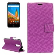 For Wileyfox Swift 2 Knit Texture Horizontal Flip Leather Case with Holder & Card Slots & Wallet & Photo Frame (Purple)