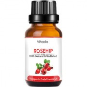 Vihado Rosehip Cold Pressed Carrier Oil 100% Pure Natural & Therapeutic Grade For Aromatherapy Skin Acne & Hair Growth (10 ml) (Pack of 1)