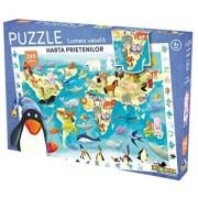 Puzzle Lumea vesela - Harta prietenilor, 240 piese