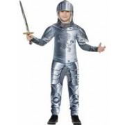 Costum cavaler medieval copii cu armura 130 cm 6-7 ani
