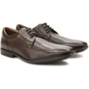 Clarks Gosworth Over Walnut Leather lace up For Men(Brown)