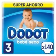 Dodot Fraldas Dodot bebé-seco T3 140 uds