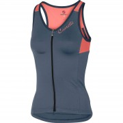 Castelli Women's Solare Top - XS - Dark Steel Blue/Salmon