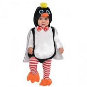 Amscan Penguin Infants Fancy Dress Animal Bird Zoo Toddler Baby Costume New (6-12 Months)
