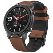 "Smartwatch Xiaomi Amazfit GTR, Display AMOLED 1.39"", Bluetooth, GPS, Carcasa Otel, Bratara Piele 47mm, Android/iOS (Maro/Negru)"