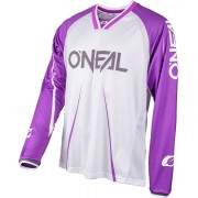 Oneal Element FR Blocker Bicicleta Jersey Blanco/Lila S