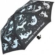 Blooming Brollies Umbrela mecanica pentru dame Everyday Raining Cats & Dogs EDFRCD