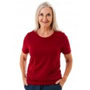 Seniors' Wear Raspberry Crew Neck Tee Shirt - Raspberry 16