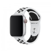 Apple MTMQ2ZM/A accessorio per smartwatch Band Nero, Platino Fluoroelastomero