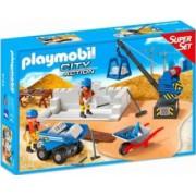 SUPER SET - SANTIERUL DE CONSTRUCTIE Playmobil
