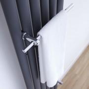 Hudson Reed Barre porte-serviettes chromée pour radiateur