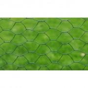 vidaXL Zeshoekig PVC gaas 50 cm x 25 m / dikte: 0,9 mm